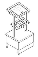 Прилавок для столовых приборов ПУ Стандарт