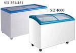 Ларь морозильный SD 400  гнутое стекло SCAN